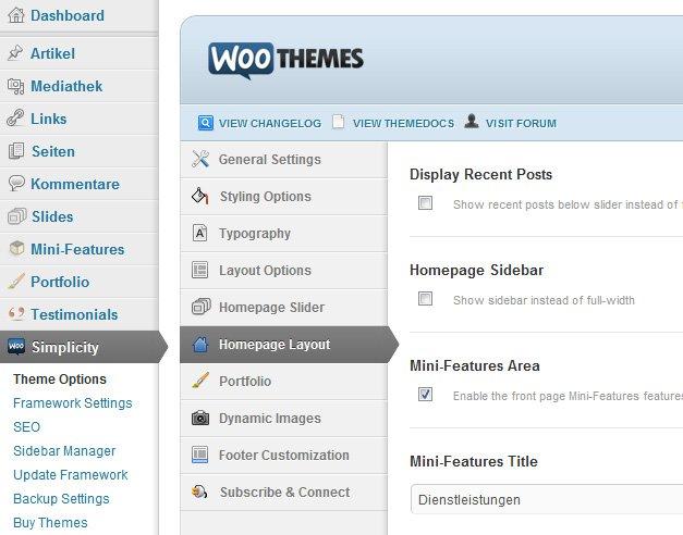 Woo-Homepage